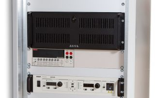 front panel of big test device rack