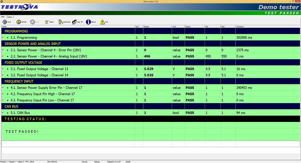 test system software